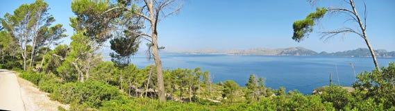Bay of pollenca, Formentor peninsula - north coast of Majorca Royalty Free Stock Photo