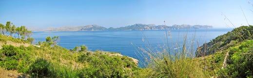 Bay of pollenca, Formentor peninsula - north coast of Majorca Royalty Free Stock Image
