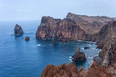 Ponta De Gale Bay. The Bay at Ponta De Gale on the Portuguese Island of Madeira Stock Photos
