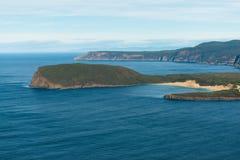 The bay at Port Arthur, Tasmania stock photos