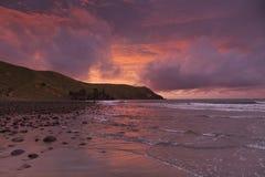 Coromandel Port Jackson. The bay at Port Jackson, Coromandel, New Zealand, at sunset Royalty Free Stock Photography