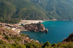 Bay of Porto. In Corsica Stock Photos