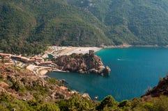 Bay of Porto. In Corsica stock photos
