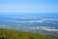 Bay of Porto Vecchio, bird eye view. Corsica Royalty Free Stock Photo