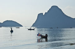 Bay of Prachuap Khiri Khan Stock Image