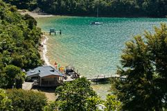 A Bay on the Queen Charlotte track, New Zealand stock images