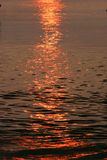 Bay Reflections. Sun Reflections on Bay in Madeira Beach Florida stock photo