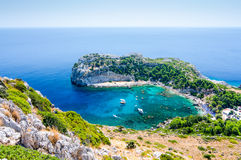 Bay of the Rhodes island Royalty Free Stock Photography