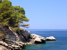 Bay Rocks. Coastline of the spanish island Mallorca Stock Photo