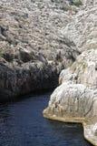 Bay. Rocks of bluebay in Malta Stock Image