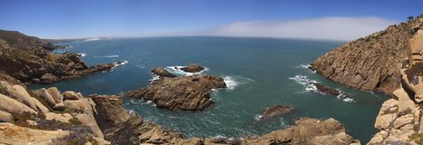 Bay of rocks near Cabo da Roca Royalty Free Stock Images