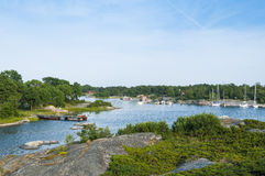 Bay at Roedloga Stockholm archipelago Stock Photo