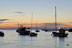 Bay of Rovinj, Croatia. Picture taken at the sunset Royalty Free Stock Image