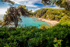 Bay of Sa Boadella in Lloret de Mar. Spain Royalty Free Stock Image