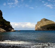 The bay  Sa Calobra on Majorca Royalty Free Stock Image