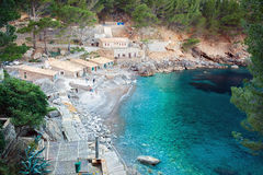 The bay of Sa Calobra, Majorca Royalty Free Stock Images