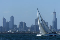 Bay sailing 01 Royalty Free Stock Image