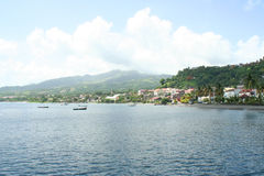 Bay of Saint Pierre in Martinique. Stock Photography
