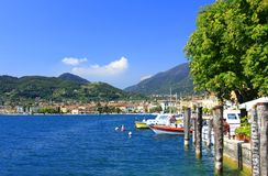 Bay of Salo. View over the bay of Salo on Lake Garda, Italy Royalty Free Stock Images