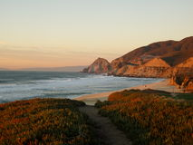 Bay of San Francisco. Sunset on the bay of San Francisco, California Royalty Free Stock Photo