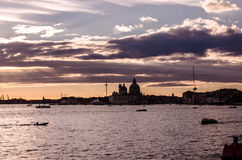 Bay of San Marco and Basilica di Santa Maria stock images