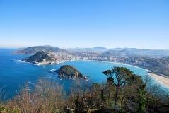 The bay of San Sebastian stock images