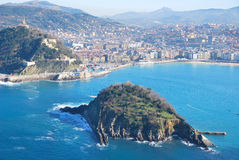 The bay of San Sebastian Stock Photography
