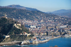 The bay of San Sebastian Stock Images