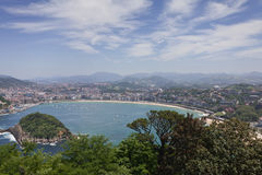 Bay of San Sebastian, Spain Stock Photos