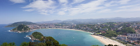Bay of San Sebastian, Spain Stock Image
