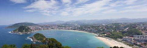 Bay of San Sebastian, Spain Stock Image