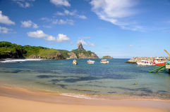 Bay of Santo Antonio on Fernando de Noronha, Pernambuco (Brazil) Stock Images