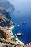 The bay in Santorini Stock Photo