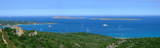 Bay in Sardinia. With beautiful sea Royalty Free Stock Photo