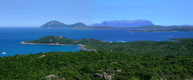 Bay in Sardinia. With beautiful sea Royalty Free Stock Images