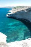 Bay in Sardinia. Cove between the rocks of Balai Away in Sardinia Royalty Free Stock Photo