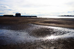 Bay in the Scotland, empty beach Stock Image