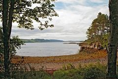 Bay of sea with view to the Isle of Skye Royalty Free Stock Photography