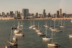 The bay seen from the Coronado Bridge, San Diego, USA, California. stock photography
