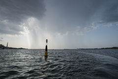 Bay of Sevastopol at the storm Royalty Free Stock Photo