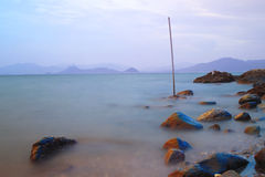 The bay side beach at sai kung Royalty Free Stock Images