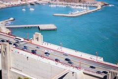 Bay Side Road, the Golden Gate Bridge stock images