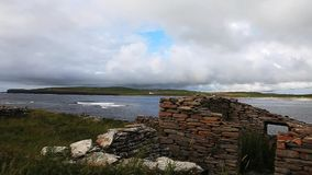At the Bay Of Skaill, Orkney, Scotland stock video