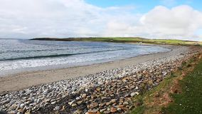 At the Bay Of Skaill, Orkney stock footage
