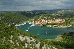 Bay in Skradin Stock Photography