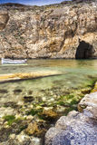 Bay. Small bay in Malta with a cave Stock Photo