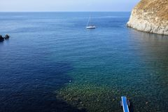 Bay of sorgeto in Ischia in Italy. Day stock images
