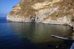 Bay of sorgeto in Ischia in Italy. Day stock photography
