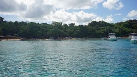Bay of sosua. Tropical bay of sosua in the dominican republic Royalty Free Stock Photography