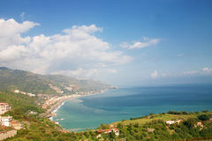 The bay of Spisone in Taormina royalty free stock images